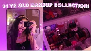my small makeup collection as a 14 yr old