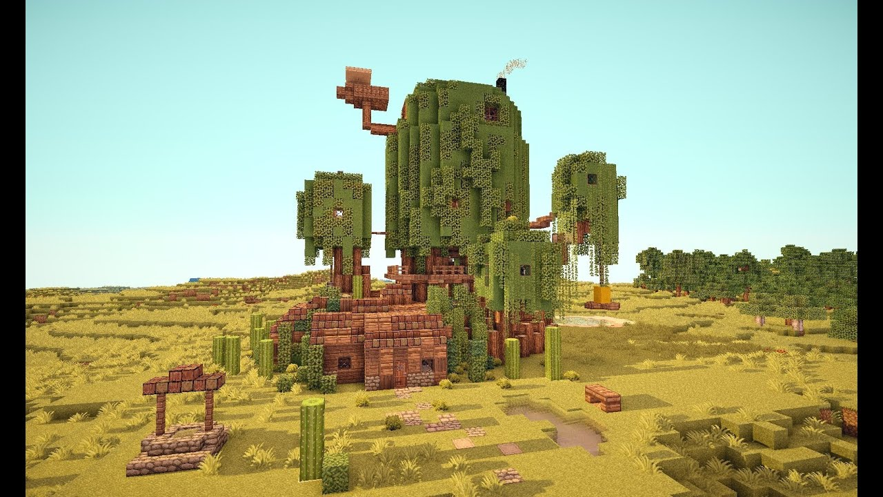 how to make the adventure time treehouse in minecraft