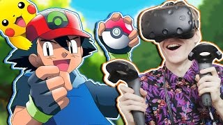 POKÉMON IN VIRTUAL REALITY! | Pokémon VR: Ash's Room (HTC Vive Gameplay)