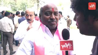 TRS Leader Jogu Ramanna on His Victory | KCR | Telangana Bhavan