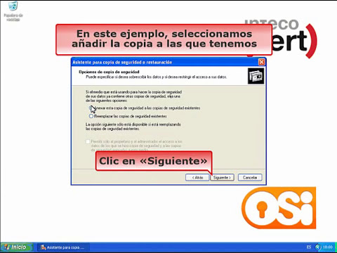 Cómo realizar una copia de seguridad con Windows XP