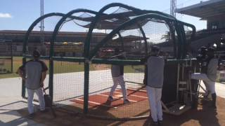 Miguel Cabrera takes batting practice before Tigers' spring-training game March 26, 2017