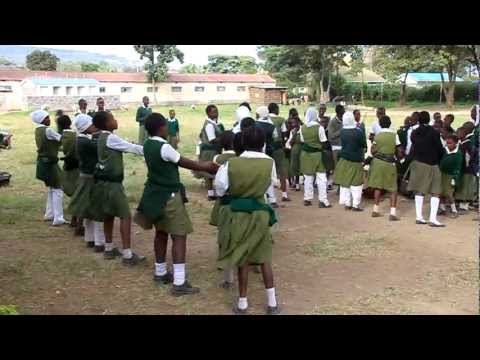 Girls are practicing dance in St. Paul primary school, Nakuru, Kenya.