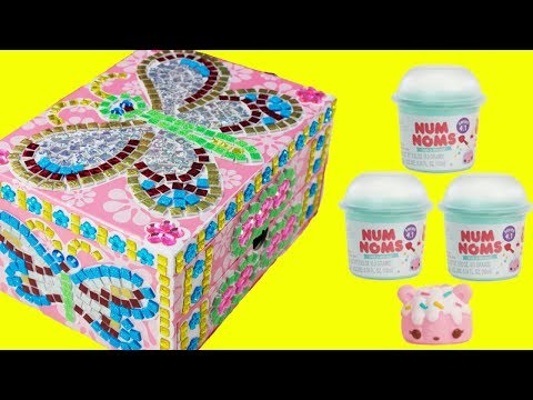 DIY Jewelry Box Sticky Mosaics and Num Noms Glitter Gloss and Nail Polish