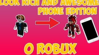 ROBLOX | HOW TO LOOK RICH/LIKE PRO PEOPLE [ANDROID AND IOS]