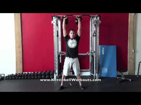 Kettlebell Workout - Double Kettlebell Clean, Squat & Press Image 1