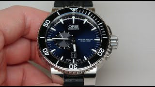 Oris Aquis Diver 500m Mens Watch Review Model: 743 7673 4135