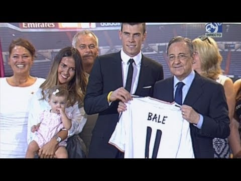 Gareth Bale unveiled to Real Madrid fans at the Bernabeu
