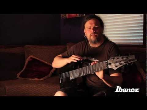 Mrten Hagstrm of Meshuggah discussing the Ibanez M8M signature 8-string guitar