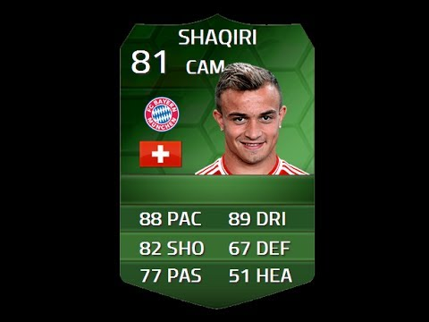 FIFA 14 iMOTM SHAQIRI 81 Player Review & In Game Stats Ultimate Team