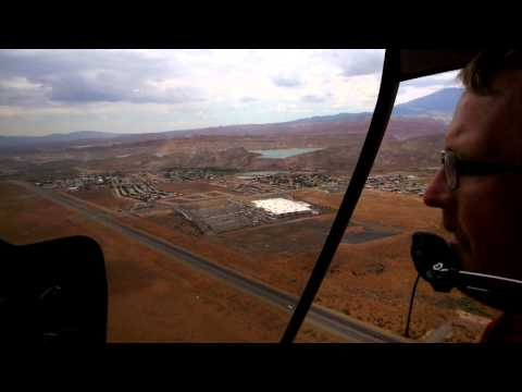 Chris rides a Helicopter above Mount Zion National Park and shares experience through Glass
