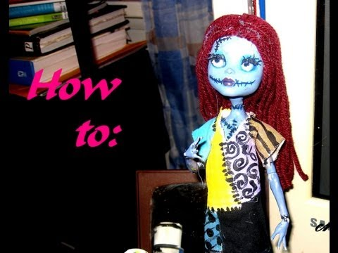 How To: Monster High Sally Doll Repaint. Inspired by Tim Burton's