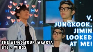 BTS V JIMIN KOOKIE NOTICED ME!! - WINGS TOUR JAKARTA