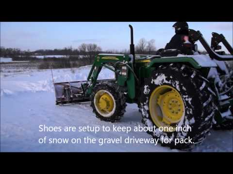 John Deere 5055e Snowplowing with our  Boss Plow