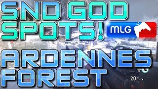 SND GOD SPOTS on ARDENNES FOREST! (COD WW2 Best Competitive Plant Spots) Call of Duty: WWII