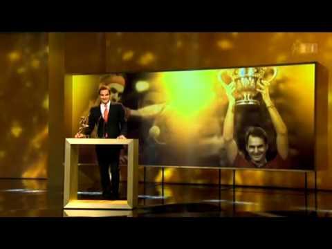 Roger Federer wins Credit Suisse Sports Award