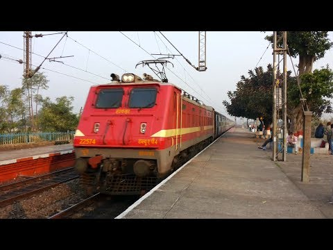 Cute Looking Hwh Wap-4 In Charge Of Dn Chambal Express video
