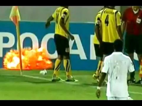 Grenade Explodes at SOCCER Game (IRAN vs. SAUDI ARABIA FOOTBALL)
