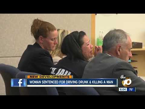 Woman sentenced for driving drunk & killing a man