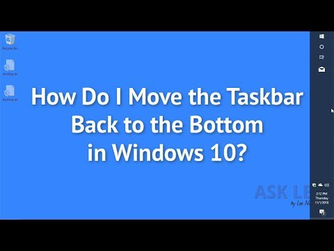 How Do I Move the Taskbar Back to the Bottom in Windows 10?
