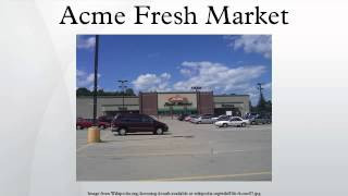 A New Face for ACME Fresh Market ! Whipple Ave Canton Ohio