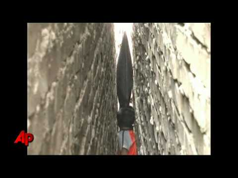 Raw Video: Chinese Boy Stuck Between 2 Walls