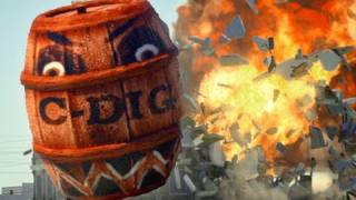 Angry Barrels! (Angry Birds real life)