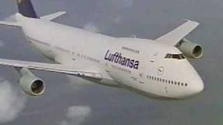Lufthansa 747 in the sky video