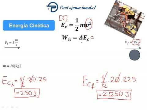Energía Cinética y Potencial (Ejemplos)