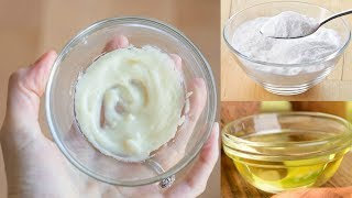 This is not a joke. Coconut Oil dipped in baking soda. It's amazing what you can do