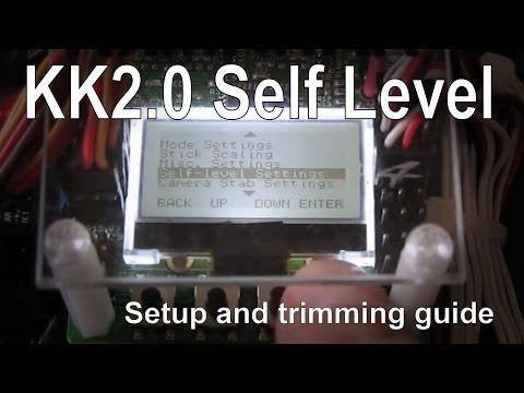 KK2.0 Self level setup. trimming and review with firmware v1.6