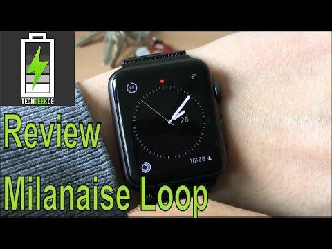 Review Apple Watch Milanaise Loop Armband von JETech 2016 Deutsch