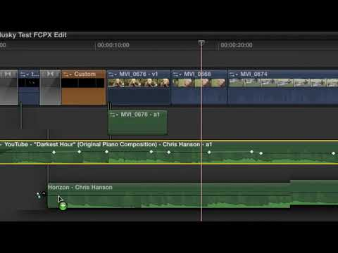 Final Cut Pro X Basics Tutorial Pt. 5 - Working with Audio