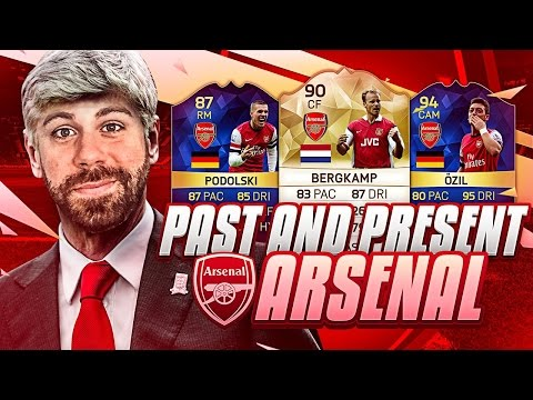 PAST AND PRESENT ARSENAL SQUAD BUILDER!!!! - FIFA 16 Ultimate Team - LEGEND BERGKAMP TOTS OZIL
