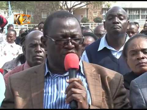 Kenyatta University staff stage match, call for disbandment of University Council