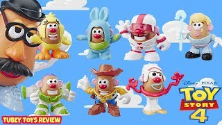 NEW Toy Story 4 Toys Mr. Potato Head Minis Full Set Forky, Duke, Ducky, Bunny MASH UP! Mix up! Tubey
