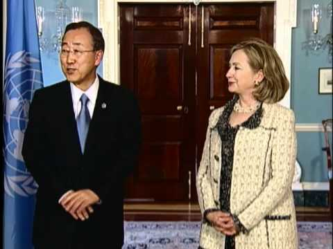 Secretary Clinton Meets With UN Secretary-General Ban Ki-Moon