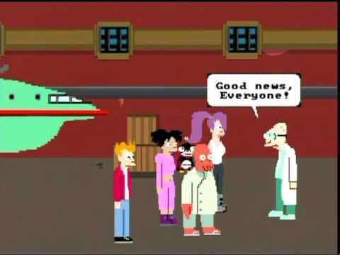 Thumbnail of video Futurama NES Game: Stage 1