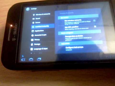 T-Mobile G1 (HTC Dream) Android 3.0 Honeycomb Demo