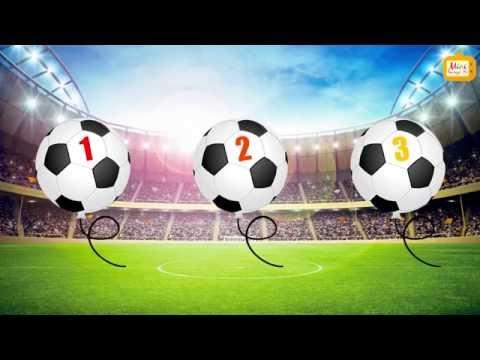 Nauka Liczenia Dla Dzieci Po Polsku - 1-10 - Balony Piłka Nożna