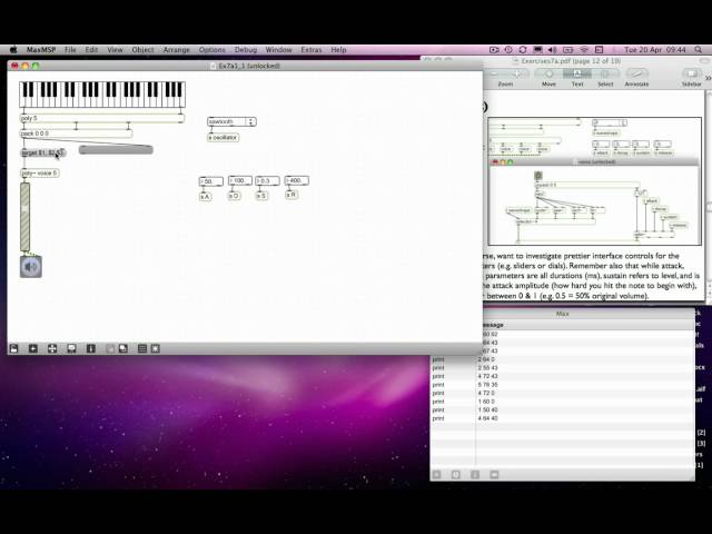 Max MSP Tutorial 07a5: Polyphony using [poly] & [poly~]