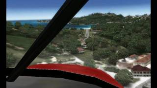 FS2004 - Piper PA-22 Approach at St Barth (TFFJ - Fly Tampa) -    HD