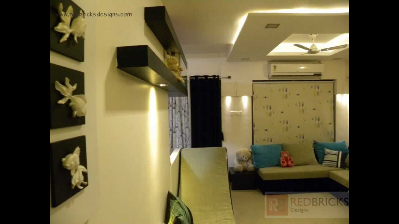 Interior designing in pune for mr chetan by redbricks for 1 bhk flat interior decoration image