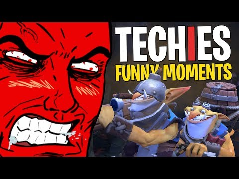 Techies & the Angry Man - DotA 2 Funny Moments