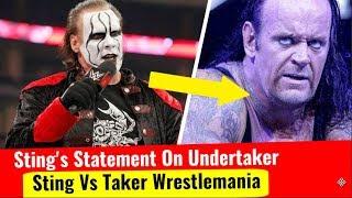 Sting Statement On The Undertaker Vs Sting At Wrestlemania Match Sting Interview By Al Arabiya