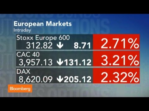 Stock Selloff: European Stocks Drop as Shire Falls