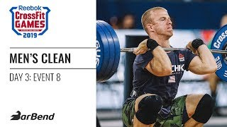 2019 Reebok CrossFit Games Men's Clean Ladder (Event 8)