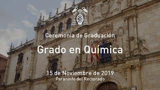 Graduación del Grado en Química · 15/11/2019