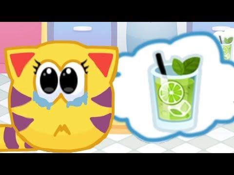 Муся напакостила в комнате!!! Убираемя в комнате котика Мяу Сим в мультике игре для детей