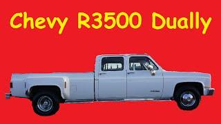 Chevy R3500 Silverado 3+3 Crew Cab Dually 454 C/K 3500 Video Review